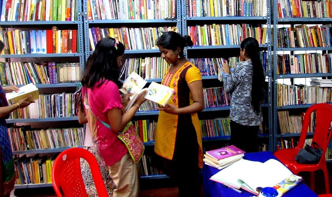 Yasodha;s free library Mattanchery, Kerala