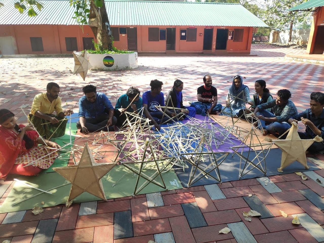 These Kerala students are making Xmas star for charity