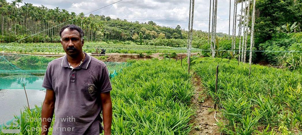 Roy Antony in his mixed farm